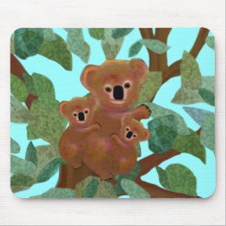Koalas en el eucalipto Mousepad Tapetes De Raton