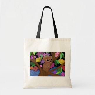 Koalas en el interior bolsas lienzo