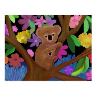 Koalas en el interior postales
