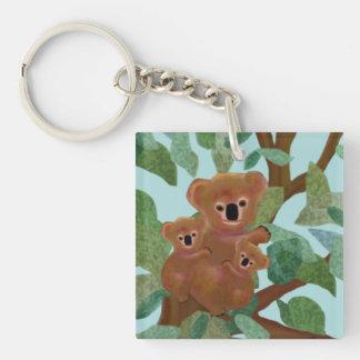 Koalas in the Eucalyptus Keychain