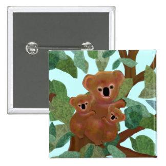 Koalas in the Eucalyptus Pinback Button