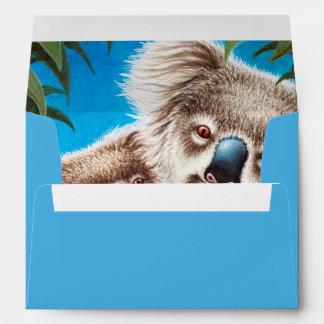 Koalas Invitation and Greeting Card A7 Envelope