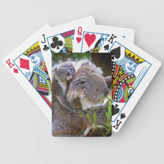 Koalas lindas baraja de cartas