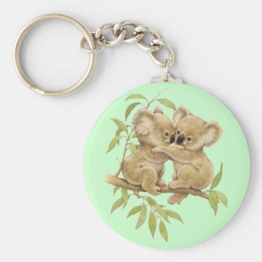 Koalas lindas llavero redondo tipo pin
