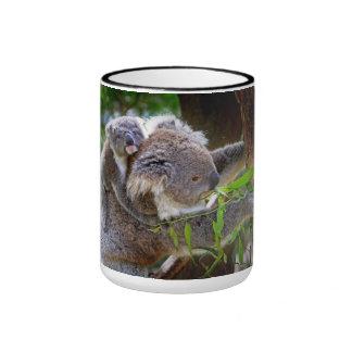 Koalas lindas taza a dos colores