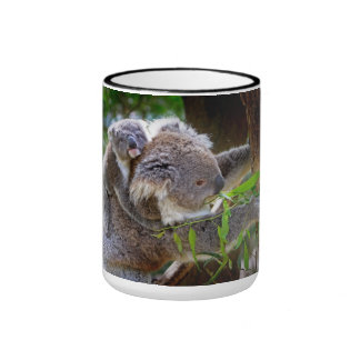 Koalas lindas taza de dos colores