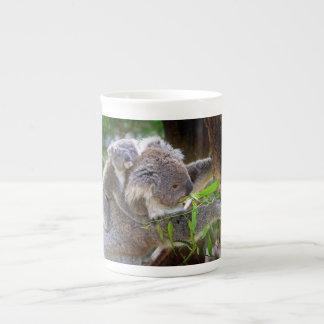 Koalas lindas taza de porcelana