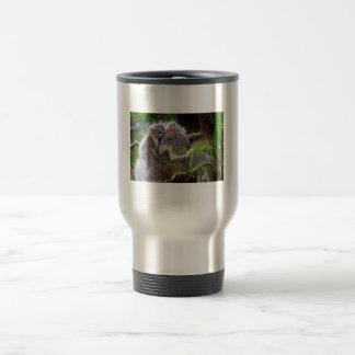Koalas lindas taza de viaje de acero inoxidable