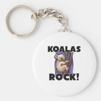 Koalas Rock Keychain
