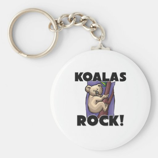 Koalas Rock Key Chain