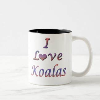 koalas Two-Tone coffee mug