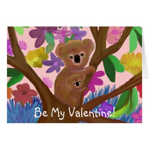 Koalas Valentine Card