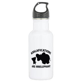 Koalifications Are Irrelephant Stainless Steel Water Bottle