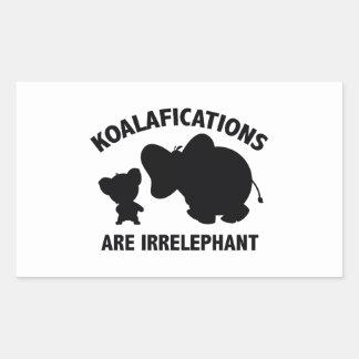 Koalifications Are Irrelephant Rectangular Sticker