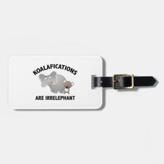 Koalifications es Irrelephant Etiquetas Maleta