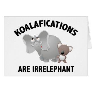 Koalifications es Irrelephant Tarjetas