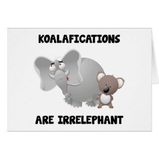 Koalifications es Irrelephant Felicitacion