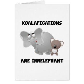 Koalifications es Irrelephant Felicitaciones