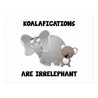 Koalifications es Irrelephant Tarjetas Postales