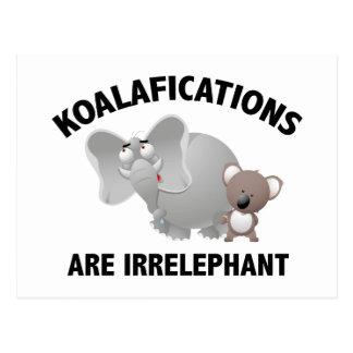 Koalifications es Irrelephant Tarjeta Postal
