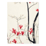 Kobayashi Kokei - árbol de la magnolia Tarjetas Postales