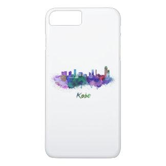 Kobe skyline in watercolor iPhone 8 plus/7 plus case