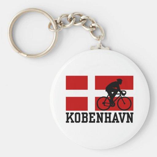 Kobenhavn (male) basic round button keychain