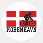 Kobenhavn (male) round stickers