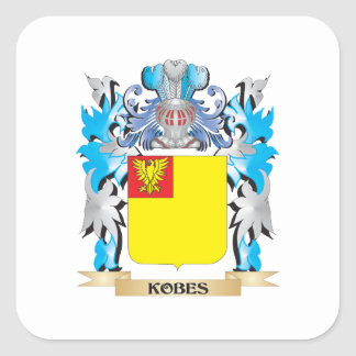 Kobes Coat of Arms - Family Crest Square Sticker