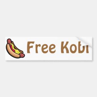 Kobi libre pegatina de parachoque