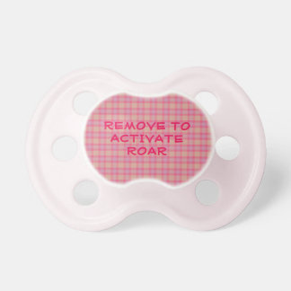 Kobi Plaid Remove to Activate Roar Pacifier