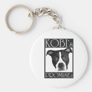 kobi's promise logo basic round button keychain