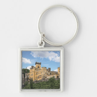 Koblenz, Germany, Stolzenfels Castle, Schloss Silver-Colored Square Keychain