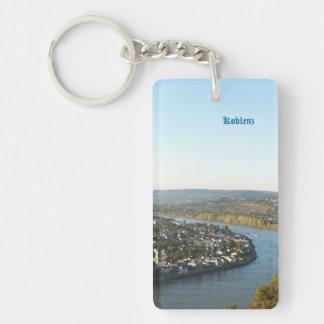 Koblenz Single-Sided Rectangular Acrylic Keychain