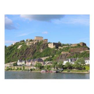 Koblenz with Festung Ehrenbreitstein Postcard
