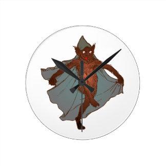 Kobold dwarf goblin imp round clock