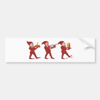 Kobolde of gnomes imps goblins gnomes bumper sticker