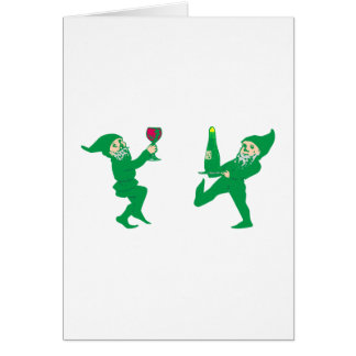 Kobolde of gnomes imps goblins gnomes greeting card