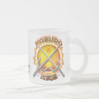 Kobudo Flaming Yin/Yang Sun Frosted Glass Mug