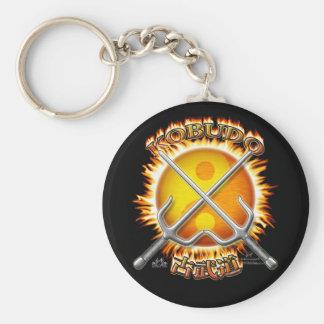 Kobudo Flaming Yin/Yang Sun Keychain