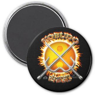 Kobudo Flaming Yin/Yang Sun Magnets