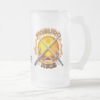 Kobudo Flaming Yin/Yang Sun Tall Frosted Glass Mug