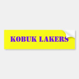 KOBUK LAKERS CAR BUMPER STICKER