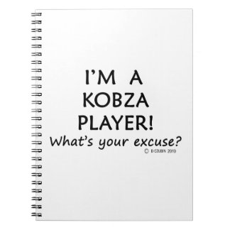 Kobza Player Excuse Note Book