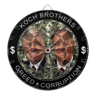 Koch Brothers - Greed ~ Corruption Dartboard