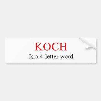Koch es pegatina para el parachoques de la palabra pegatina para auto