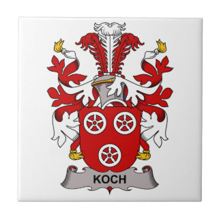 Koch Family Crest Ceramic Tile