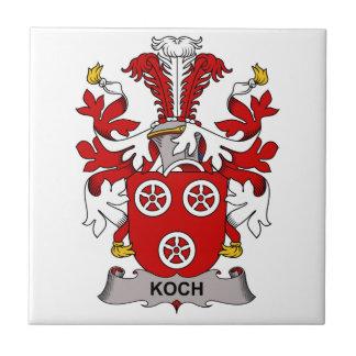 Koch Family Crest Ceramic Tile