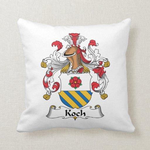 Koch Family Crest Throw Pillows