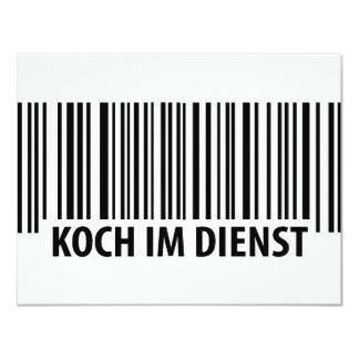 Koch im Dienst Barcode icon Card